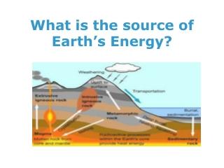 Earth s Energy Budget