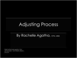 Adjusting Process