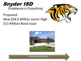 Proposed  New  $28.8 Million Junior High $15 Million Bond Issue