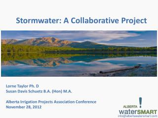 Stormwater : A Collaborative Project