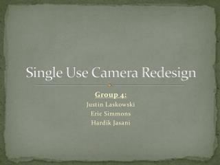 Single Use Camera Redesign