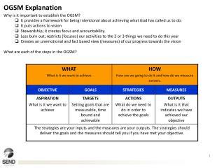 OGSM Explanation