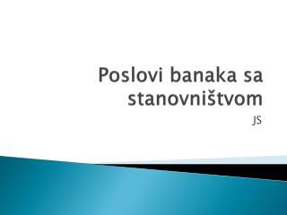 Poslovi banaka sa stanovništvom