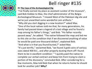 Bell ringer #135