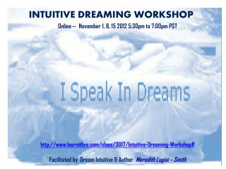 INTUITIVE DREAMING WORKSHOP