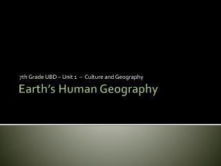 Earth's Human Geography