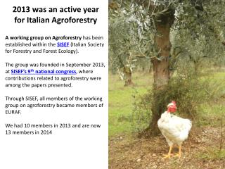 2013 was an active year for Italian Agroforestry