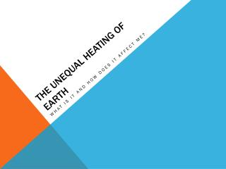 The Unequal heating of Earth