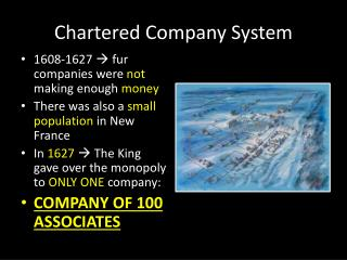 Chartered Company System
