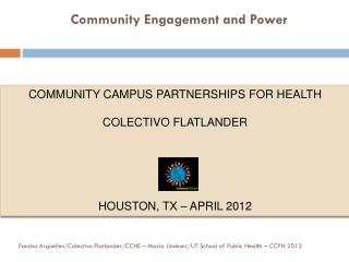 Community Engagement and Power