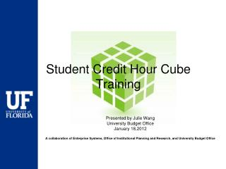 Student Credit Hour Cube Training