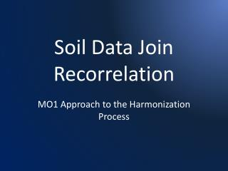 Soil Data Join  Recorrelation