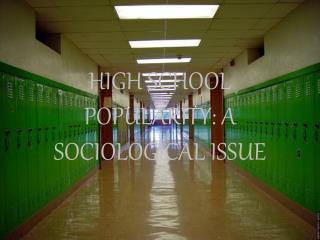 HIGH SCHOOL POPULARITY: A SOCIOLOGICAL ISSUE