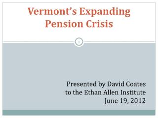 Vermont's Expanding Pension Crisis