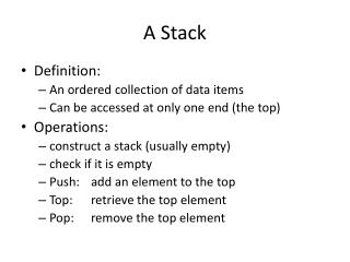 A Stack