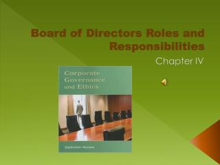 Board of Directors Roles and Responsibilities