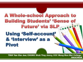 A Whole-school Approach to Building Students' 'Sense of Future' via SLP