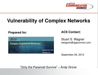 Vulnerability  of Complex Networks