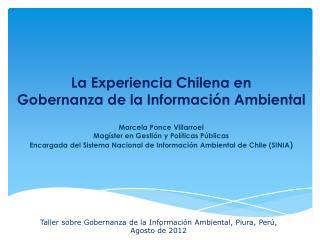 Taller sobre Gobernanza de la Información Ambiental, Piura, Perú, Agosto  de 2012