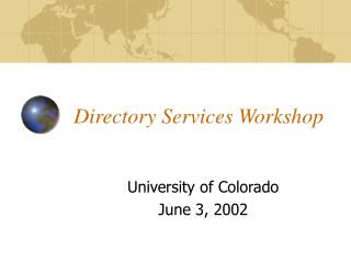 Directory Services Workshop