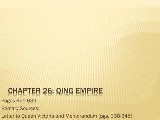 Chapter 26: Qing Empire