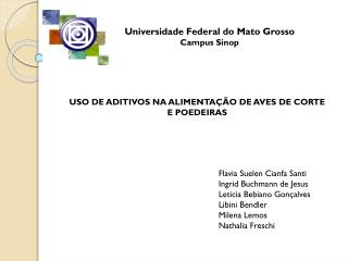 Universidade Federal do Mato Grosso Campus  Sinop