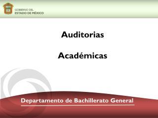 Departamento de Bachillerato General