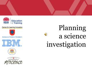 Planning  a science investigation