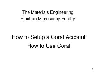 How to Setup a Coral Account   How to Use Coral