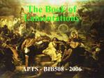 APTS - BIB508 - 2006