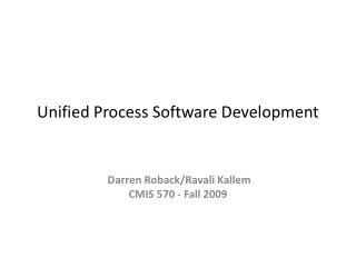 Unified Process Software Development