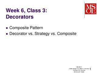 Week 6, Class  3: Decorators