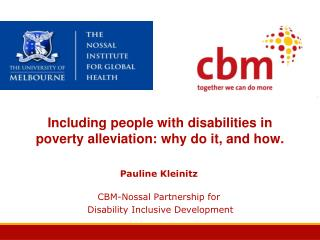 Including people with disabilities in poverty alleviation: why do it, and how.