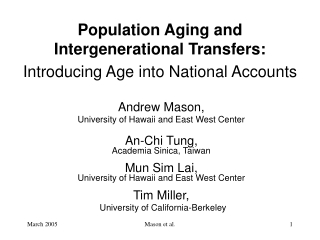 Implications of Aging-in-Place