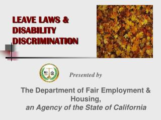 LEAVE LAWS  DISABILITY  DISCRIMINATION