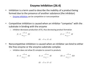 Enzyme Inhibition (26.4)