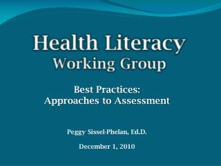 Health Literacy Working Group