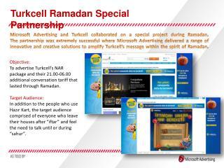Turkcell Ramadan Special Partnership