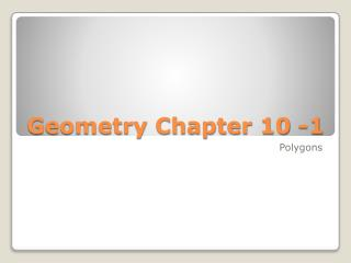 Geometry Chapter 10 -1