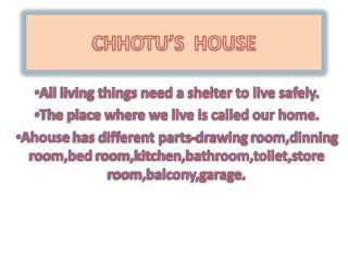 CHHOTU�S  HOUSE