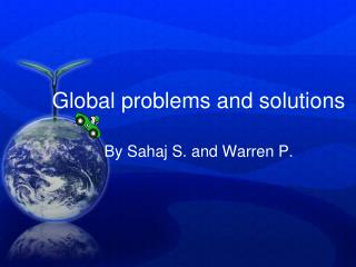 Global problems and solutions
