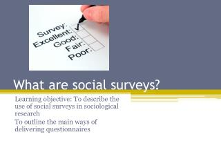 What are social surveys?