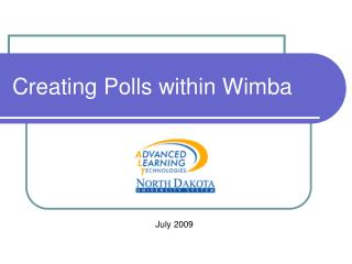 Creating Polls within Wimba