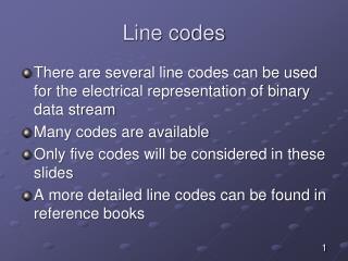 Line codes