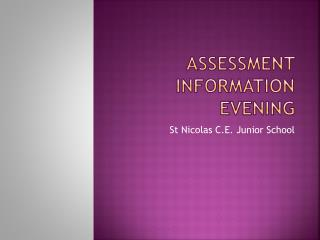 Assessment Information Evening