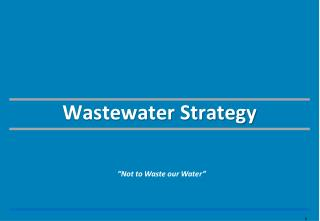 Wastewater Strategy