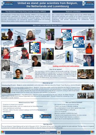 United we stand: polar scientists from Belgium ,  the Netherlands and Luxembourg