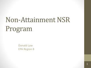 Non-Attainment NSR Program