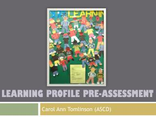 Learning Profile pre-Assessment