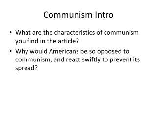 Communism Intro